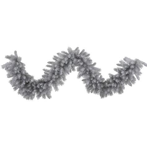 9 foot artificial silver white pine garland unlit n135217