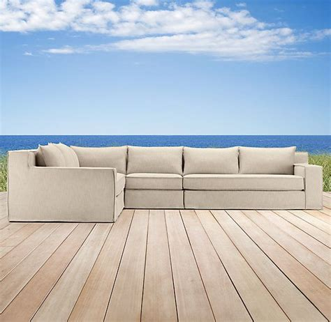 restoration hardware capri sofa capri l sectional a true outdoor living room sofa by