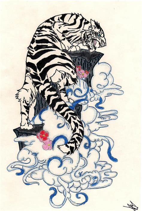 Traditional Japanese Drawings Traditional Japanese Style Tiger Drawing By Crisol Cos
