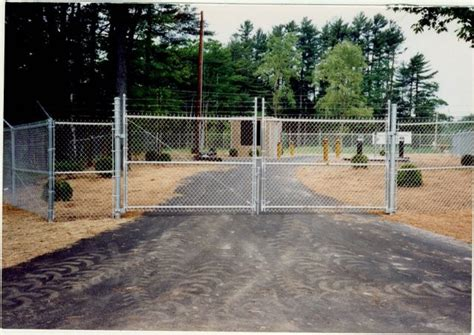 chain link swing gate commercial chain link fence
