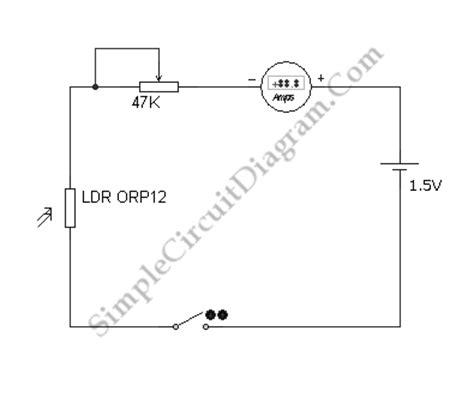 simple ldr circuit diagram simple light meter circuit diagram world