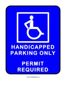 handicap parking sign template printable handicapped parking with permit sign