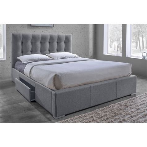 grey upholstered queen bed sarter upholstered queen storage bed in gray cf8498