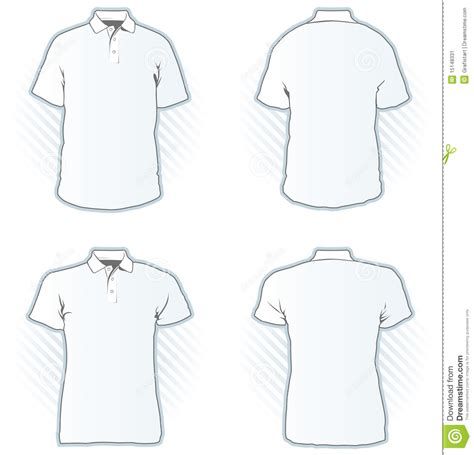 shirt design templates polo shirt design template set stock image image 15148331