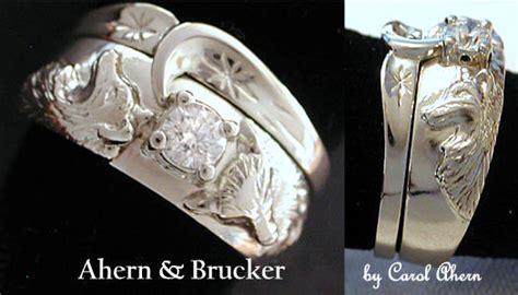 stunning wedding rings wolf track wedding ring