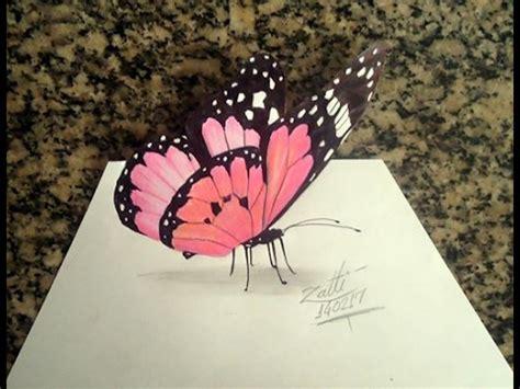 borboletas em 3d youtube como desenhar uma borboleta em 3d youtube