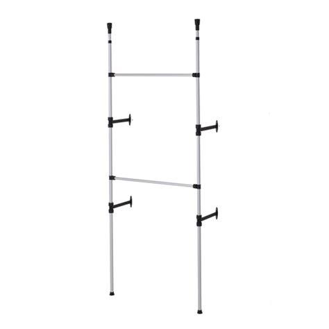 modern 2 tier telescopic clothes rack metallic walmart