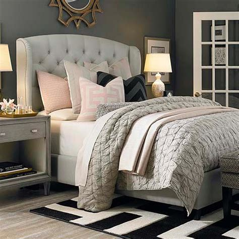 winged bedroom arched winged beige bed