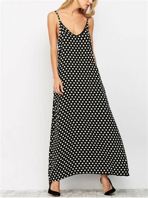 Maxi Dress Polka polka dot maxi slip dress black maxi dresses m zaful