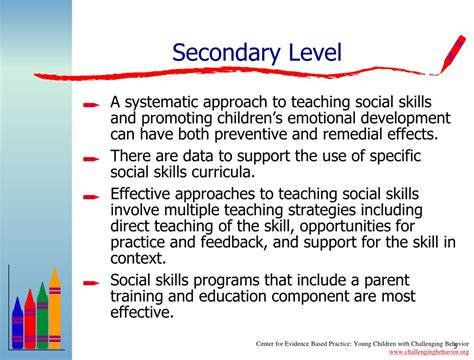 Secondary Level ppt effective practices for preventing and addressing children s challenging behaviors