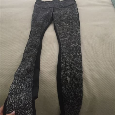 lululemon patterned leggings 66 off lululemon athletica pants lulu lemon leggings