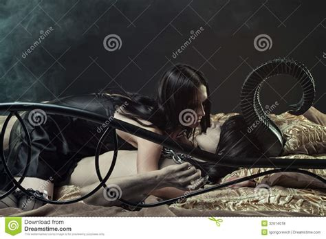 in bed with the devil infernal desire royalty free stock photos image 32614018