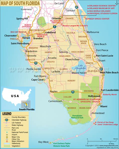 map of south map of south florida south florida map