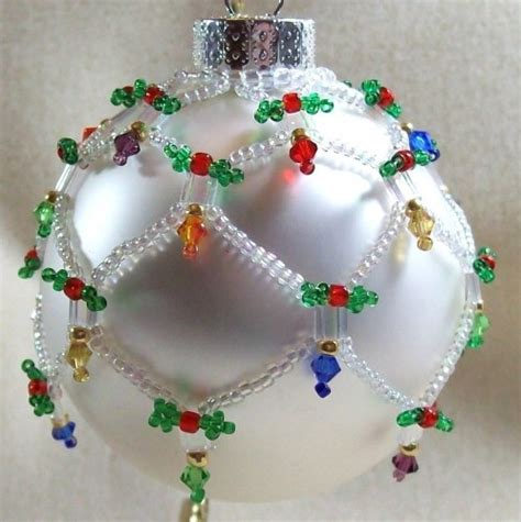 holiday lights ornament cover beading tutorial from