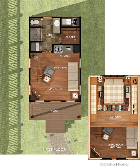 tiny homes plan 448