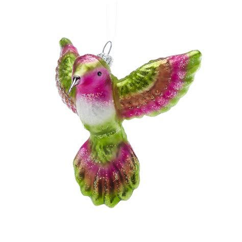 garden lover s green pink hummingbird christmas ornament