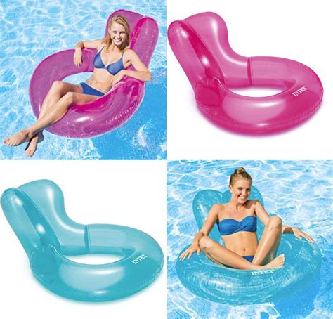 Intex Chair Float by Intex Transparent Chair Float Swimming Lounger