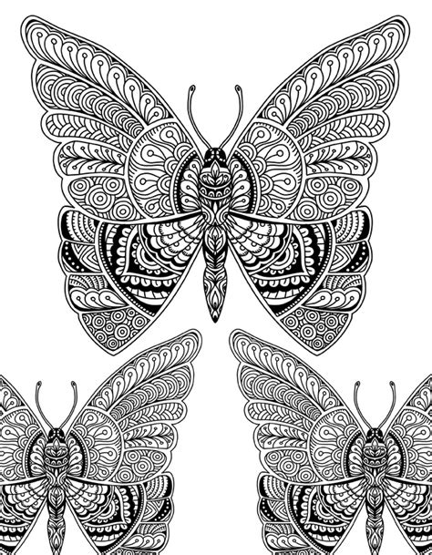 butterfly doodle coloring pages beautiful butterfly doodle art adult coloring page karyn