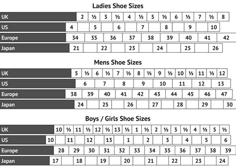 size shoe chart mens foot size chart printable loving printable