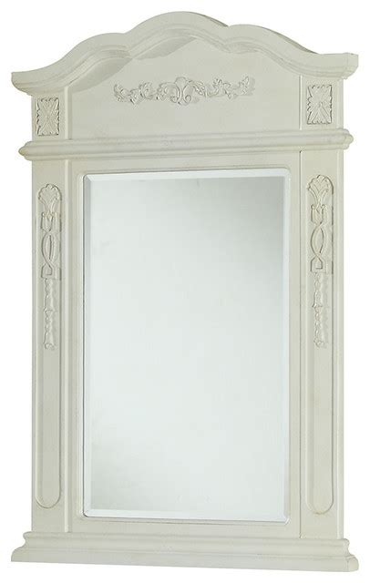 victorian bathroom mirror elegant lighting danville 24 quot vanity mirror in beige victorian bathroom mirrors