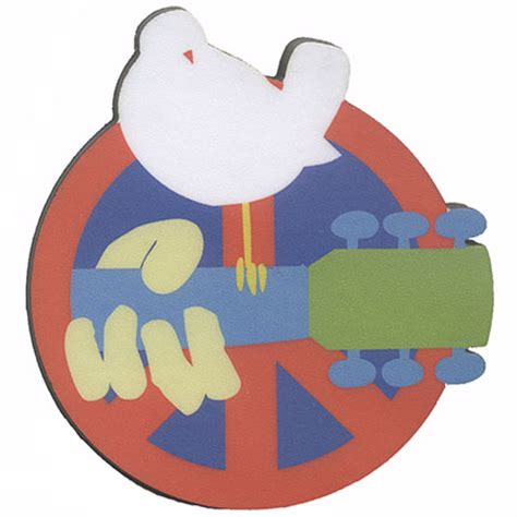 woodstock peace sign chunky magnet woodstock trading company