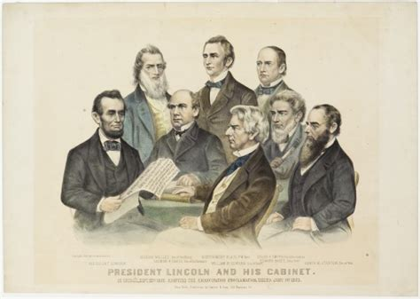 abraham lincoln cabinet president lincoln and his cabinet in council septe 22nd