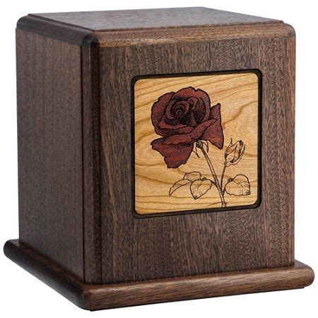 red rose wood cremation urn wood urn