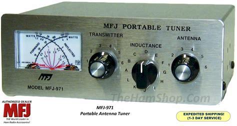 Mfj 842 Compact Cross Needle mfj 971 portable antenna tuner 200 watts qrp 1 8 to 30 mhz cross needle 650619002539 ebay