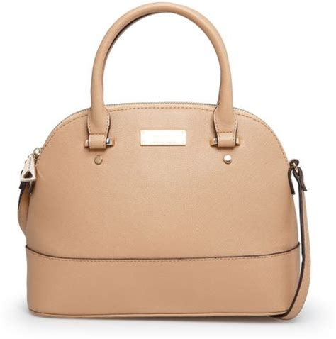 mango touch saffiano effect tote bag in beige lyst