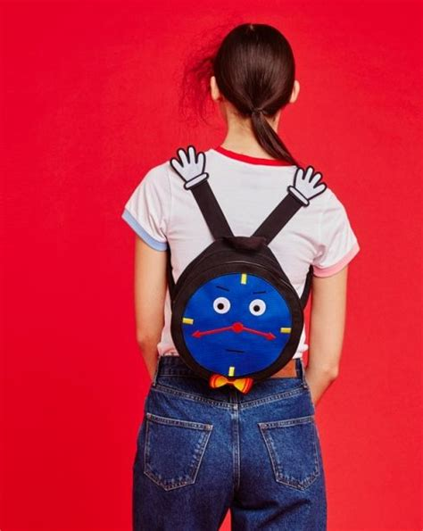 Robot Pin From Lazy Oaf by Don T Hug Me I M Scared For Lazy Oaf Clock Backpack