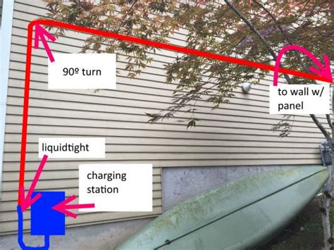 how to run electrical running conduit through wall outside for electric car