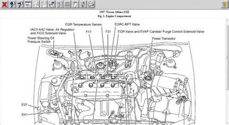 1997 nissan altima engine diagram 1997 nissan altima surging idle when i shift out of gear