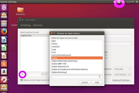keyboard layout menu english version of ubuntu with italian keyboard ask ubuntu
