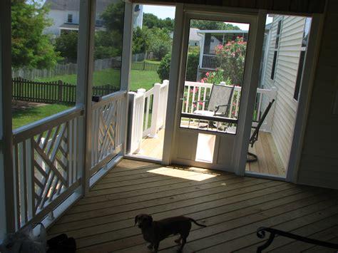 home designer pro porch exterior white vinyl screen sliding door with pet door