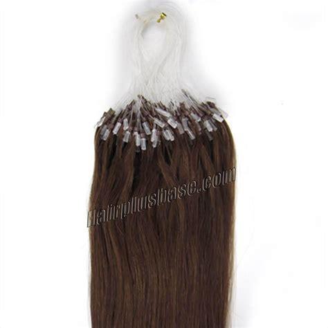 24 in human hair extensions 24 inch 4 medium brown micro loop human hair extensions