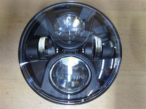 jeep headlights at mopar led 7 quot headlights for jeep jk 82214333ab