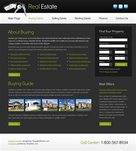 Free Real Estate Business Template Real Estate Website Templates Free