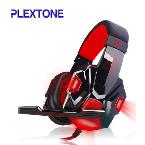 Headset Gaming Imperion G40 Led Light plextone led light gaming headphones with mic stereo earphone ear headset noice cancel for