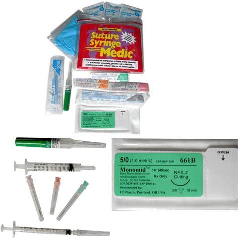 travel syringe kit adventure kits travel series suture syringe