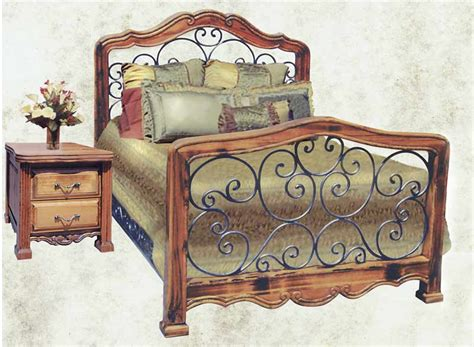 king bed bed bedroom furniture wrought iron