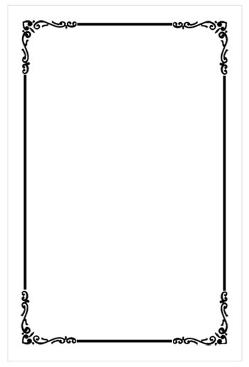 Black And White Border Cards Template black and white border template clipart library clip