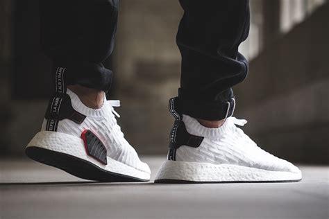 Adidas Nmd R2 Primeknit White 1 adidas nmd r2 primeknit white black by3015 sneaker bar detroit