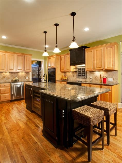 kitchens with light cabinets and dark island light cabinets with dark island cabinet combo black and
