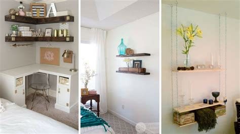 creative hanging shelving idea  small bedroom youtube