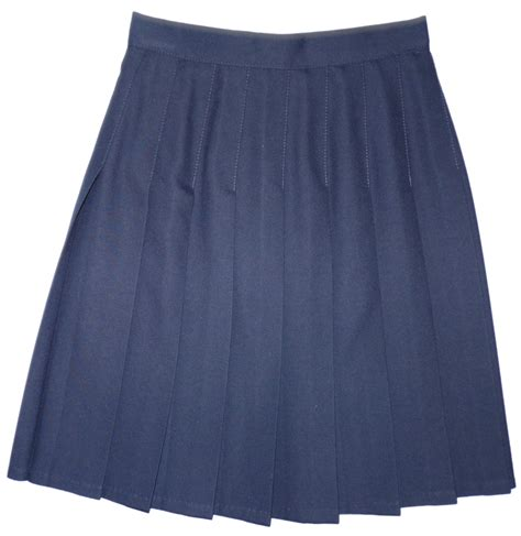navy sewn pleated skirt school wear stretford