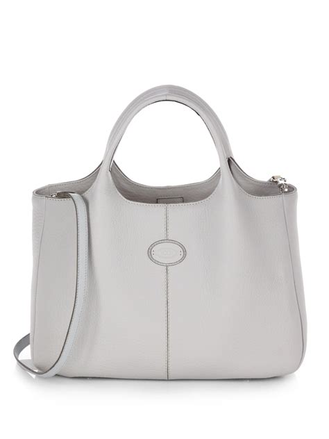 Tods New Bensonville Piccola by Lyst Tod S Piccola Shopping Bag In Gray