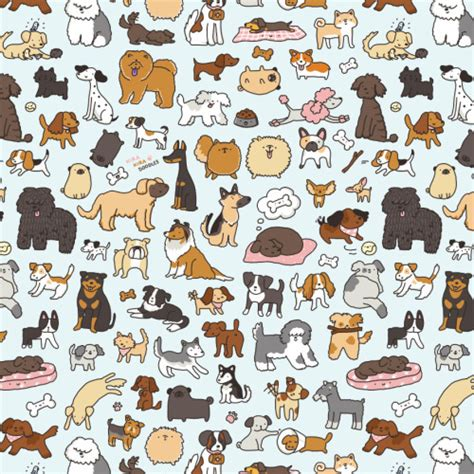 dog pattern wallpaper strong spirit elarum albus