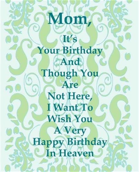 Happy Birthday And Rest In Peace Quotes Happy Birthday In Heaven Mom Quotes Poems I Miss You