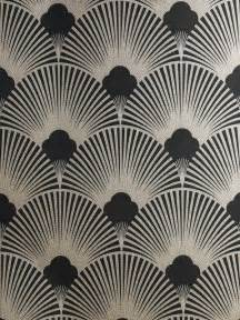 Surrey Upholstery Art Deco Metallic Wallpaper Pattern Ws128 Wallpaper