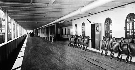 on board rms titanic memories of the maiden voyage books promenade deck of the titanic titanic before and after